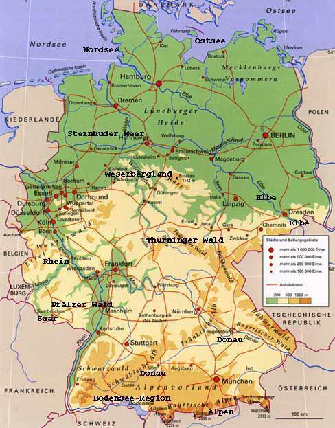 Mittelgebirge Deutschland Karte.Die Zugspitze